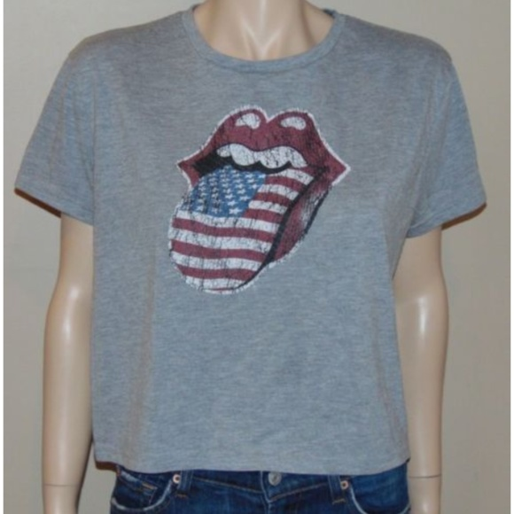 7445cea5 Atmosphere Tops | Official Rolling Stones Usa Lips Tongue T Shirt ...